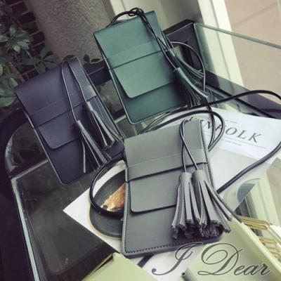 I.Dear-韓系清新可愛流蘇皮革MINI小型斜背包(3色)
