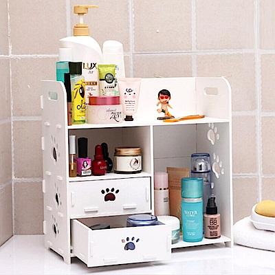 E-dot 韓國DIY木質化妝品小物抽屜收納盒
