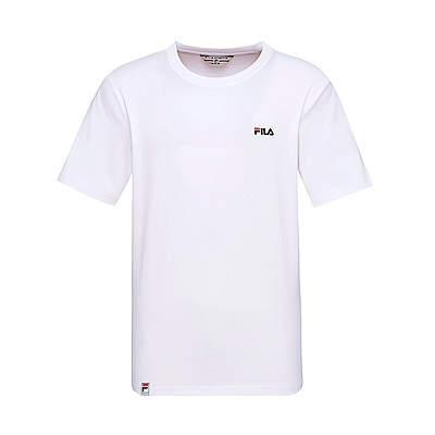 FILA #漢城企劃 短袖圓領T恤-白 1TET-1409-WT
