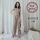 東京著衣-KODZ 帥氣歐膩交叉v領西裝連身長褲-XS.S.M(共兩色)