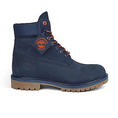 Timberland 男款 Icon 經典海軍藍磨砂革6吋靴|A1U7X
