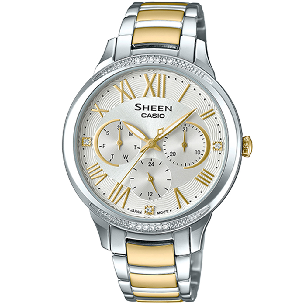CASIO SHEEN 耀眼風采時尚腕錶(SHE-3058SG-7A)36mm