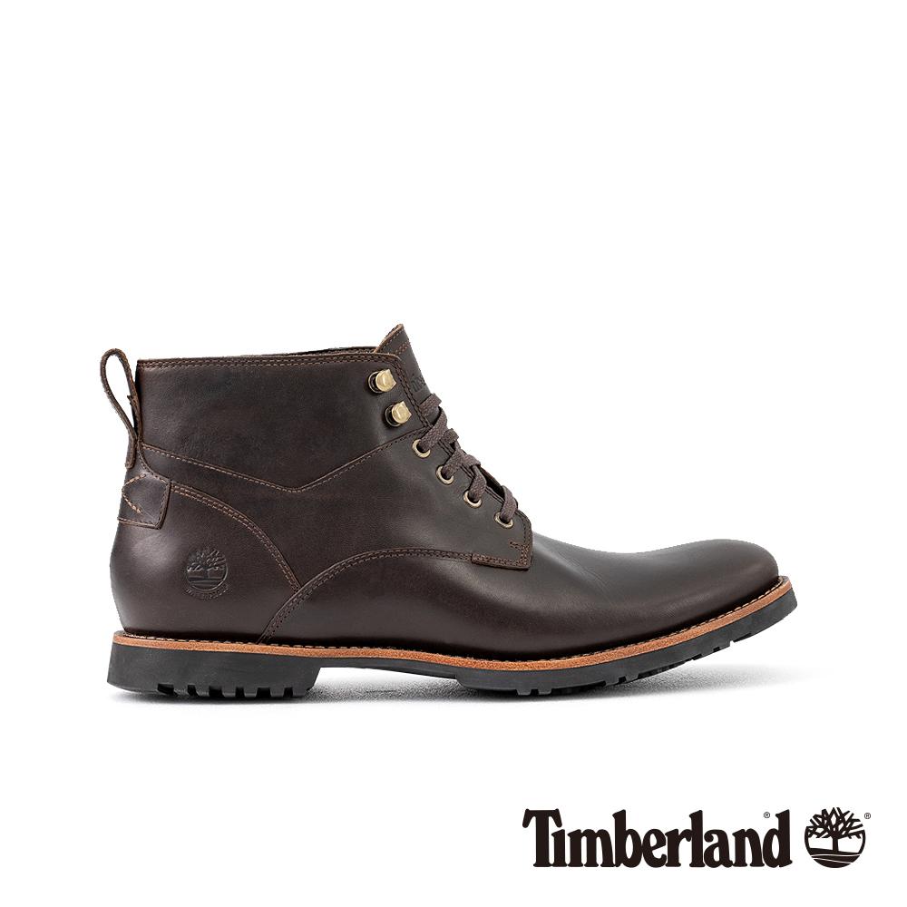 Timberland 男款深咖啡色粒面皮革Kendrick休閒鞋 A1SUH @ Y!購物