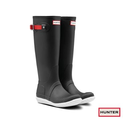 HUNTER - 女鞋 - Original曲線霧面長靴 - 黑