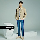 H:CONNECT 韓國品牌 男裝-水洗刷色合身牛仔褲-藍