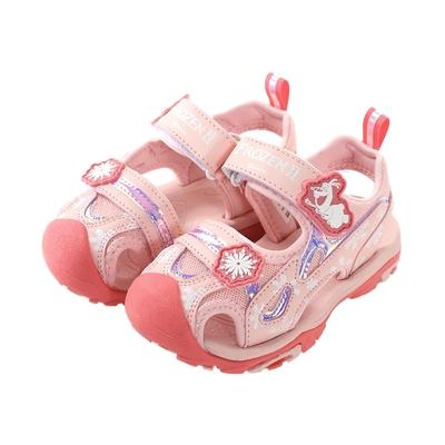 魔法Baby 女童鞋 迪士尼冰雪奇緣授權正版女童護趾運動涼鞋 sa14113