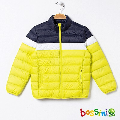 bossini男童-90/10極輕羽絨外套02螢光黃