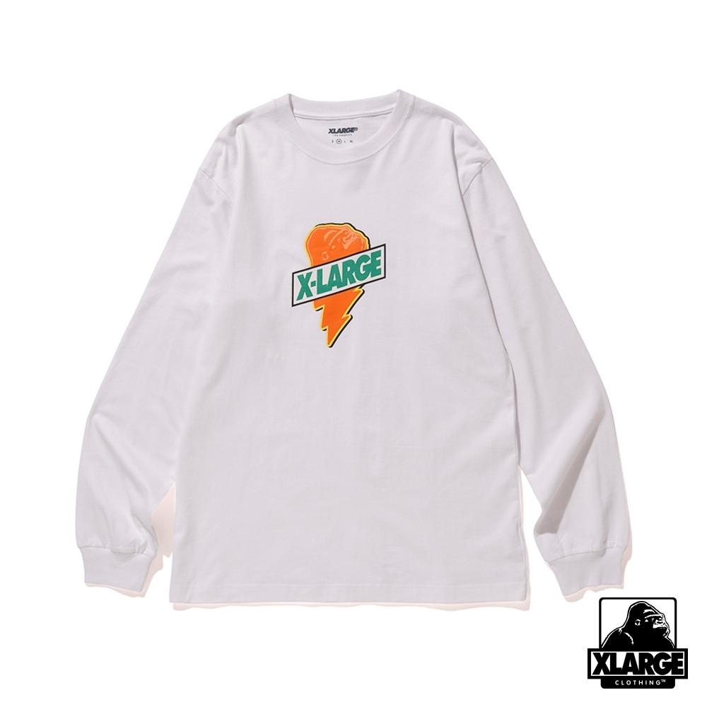 XLARGE L/S TEE ELVIS長袖T恤-白