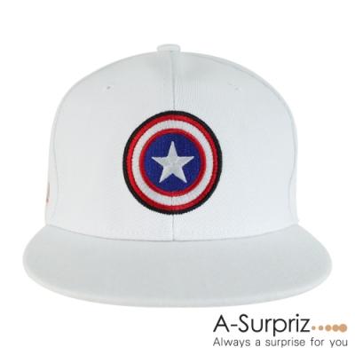 A-Surpriz 漫威美國隊長棒球帽 (白)