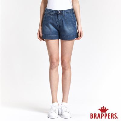 BRAPPERS 女款 Boy Friend 系列-女用休閒天絲棉短褲-藍