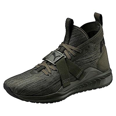 PUMA-IGNITEevoKNIT2男性慢跑運動鞋-深林綠