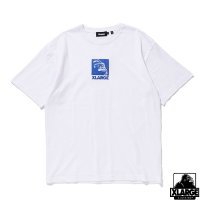 XLARGE S/S TEE EMBROIDERY SQUARE OG 方形LOGO刺繡短T-白