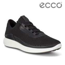 ECCO SOFT 7 RUNNER M 簡約拼接透氣休閒鞋 男-黑