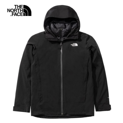 The North Face 男 防水透氣三合一兩件式夾克 黑-NF0A4N9TKX7