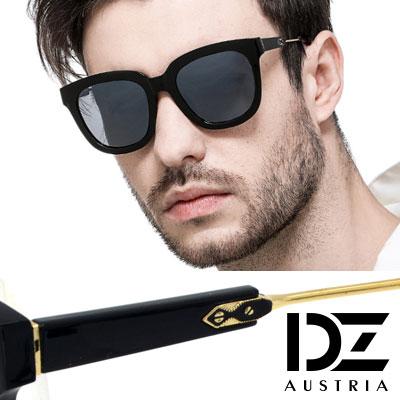 【2件59折】DZ 摩登異想 抗UV 防曬偏光 太陽眼鏡墨鏡(黑框灰片)