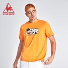 le coq sportif 法國公雞牌七龍珠聯名款 決鬥篇印花短袖T恤 男-橘