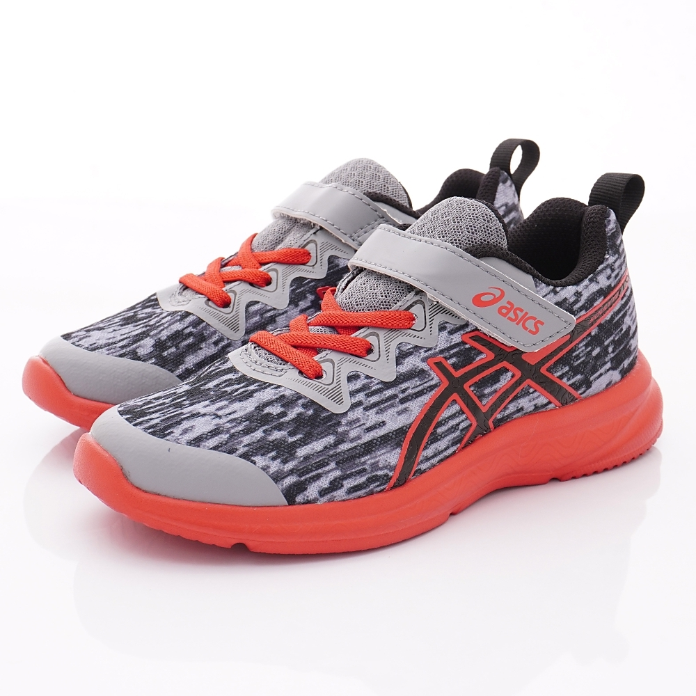 asics競速童鞋 SOULYTE運動鞋 4A098-020灰紅(小童段)