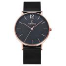 OBAKU 暗黑騎士鋼質手錶-玫瑰金色x黑色/41mm