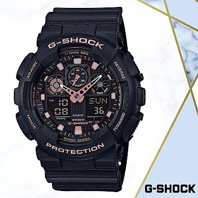 CASIO卡西歐G-SHOCK無限精神(GA-100GBX-1A4)黑色/51MM