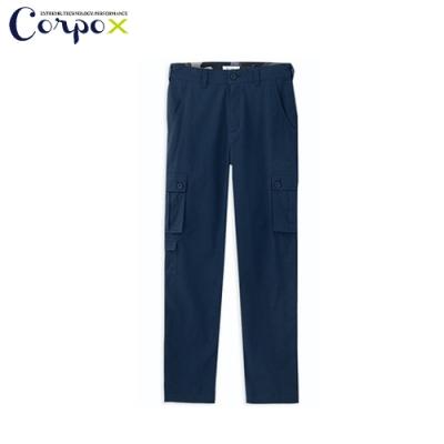 CorpoX 男款耐磨吸排工作長褲-深藍