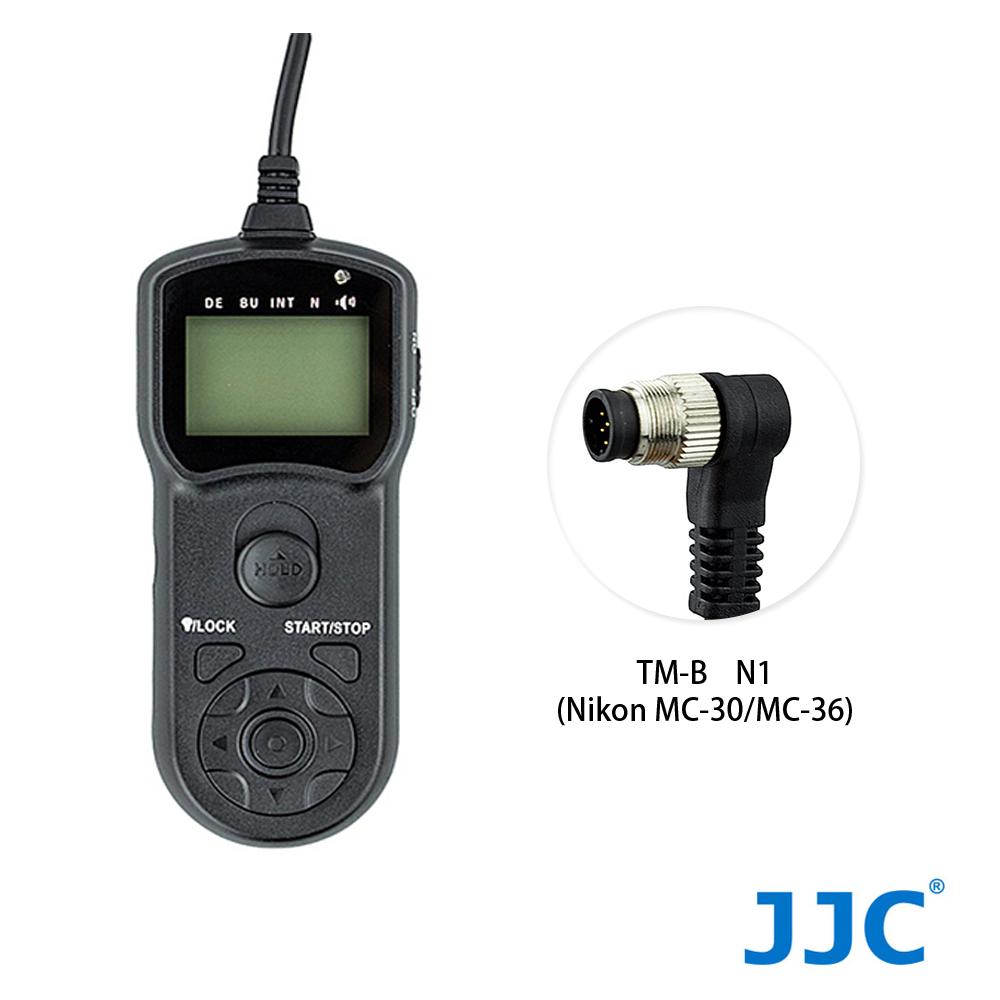 JJC TM-B 液晶定時快門線 N1(Nikon MC-30/MC-36)