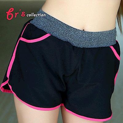 【brs】防走光雙口袋運動鬆緊帶短褲-6色