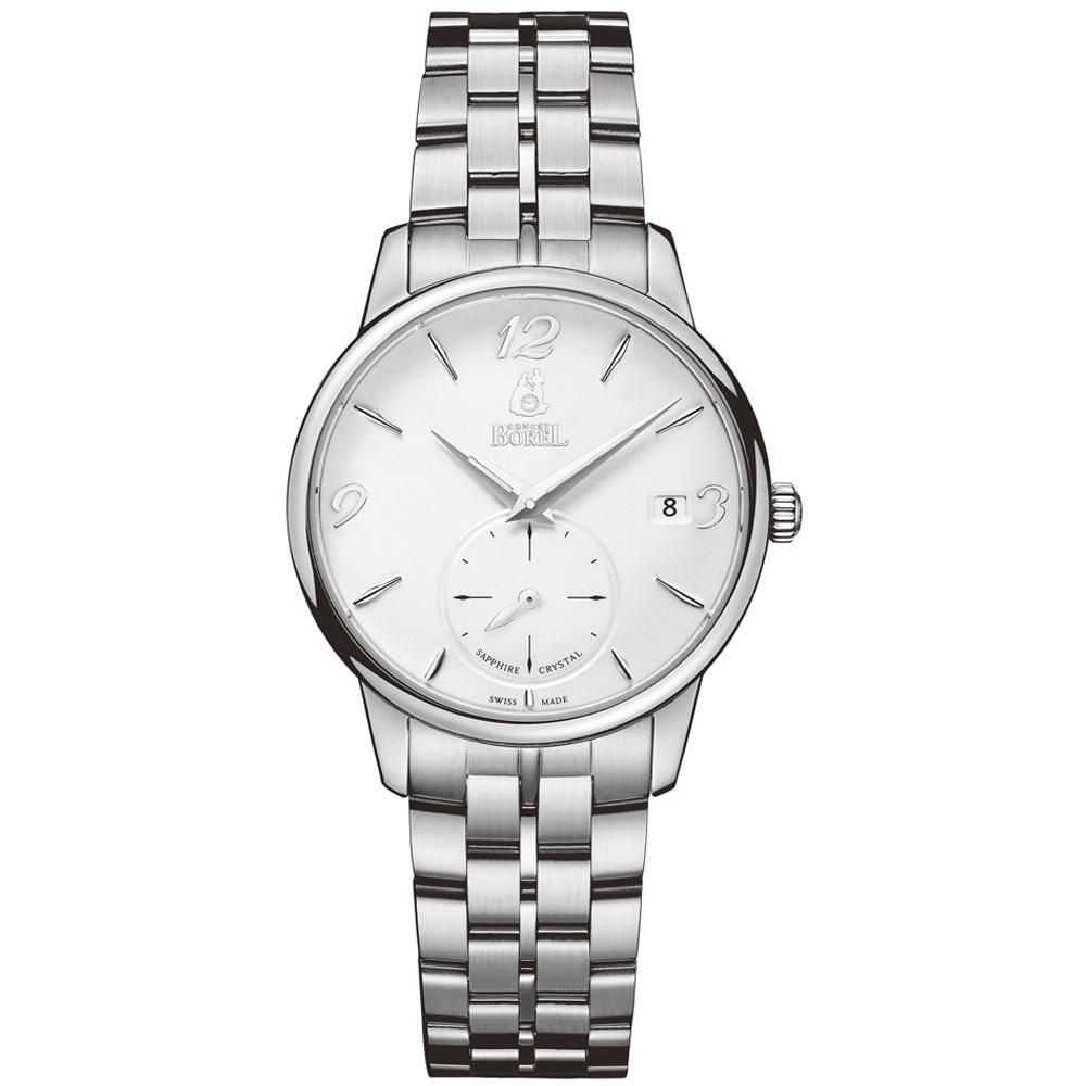 ERNEST BOREL 瑞士依波路錶 雅麗系列5650不鏽鋼小秒針-白色32mm