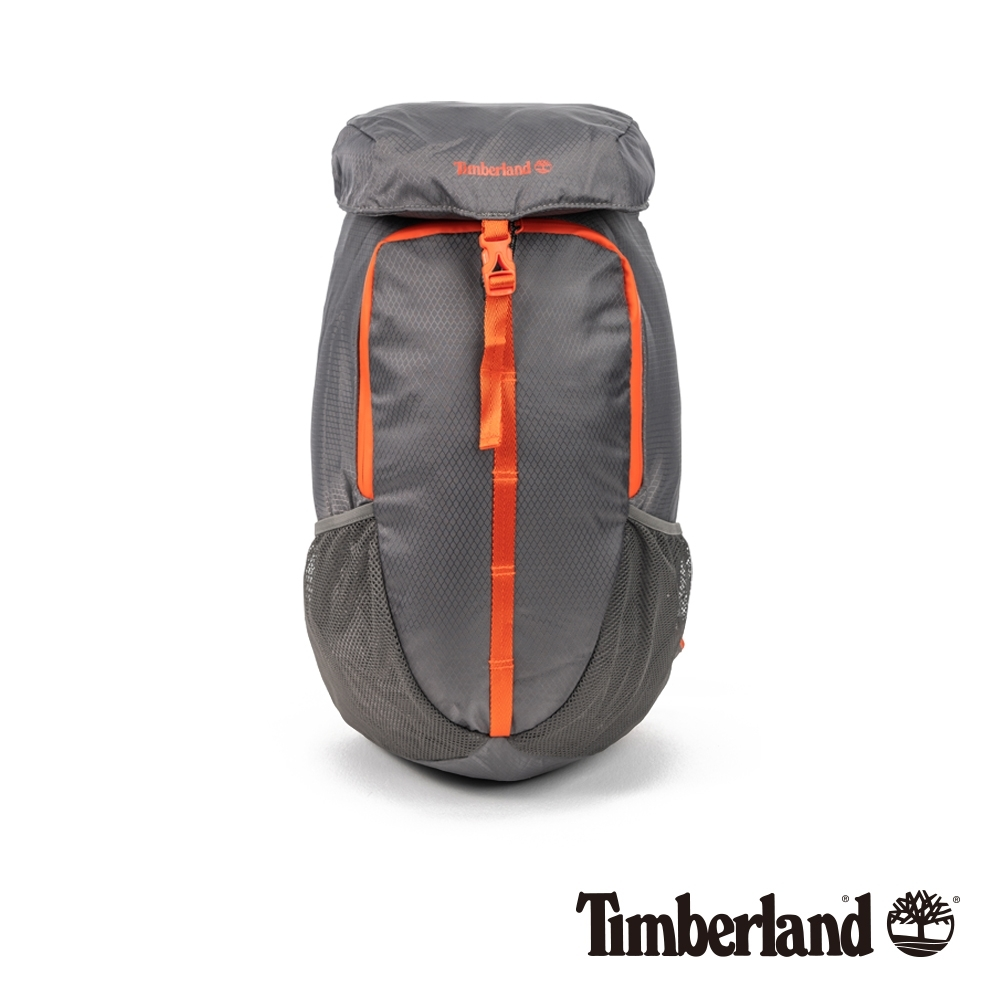 Timberland 中性鐵灰撞色休閒雙肩後背包 A2FNR