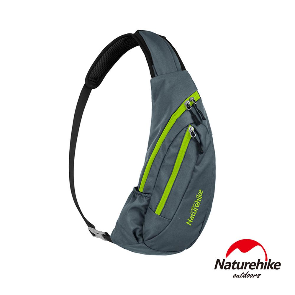 Naturehike 6L多功能防水單肩斜背包 胸前包 深灰-急