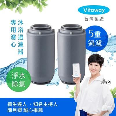 Vitaway維他惠 森林SPA活水沐浴過濾器專用濾心 2入-台灣製造-陳月卿推薦