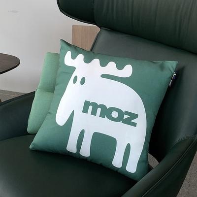 moz瑞典 北歐風雙面抱枕套(經典LOGO-樹木綠)45cm