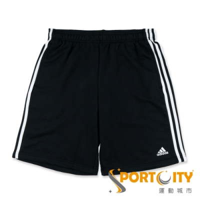 ADIDAS ESS 3S SHORT FT 男運動短褲 黑 BK7468