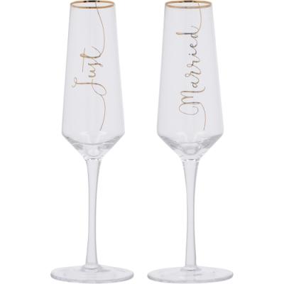 《CreativeTops》Ava香檳杯2件(結婚吧250ml)