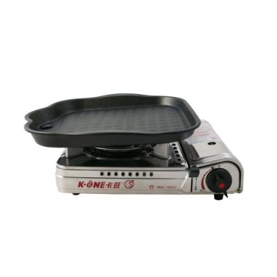 卡旺K1-A003SD攜帶式卡式爐 + 韓國HANARO火烤兩用方形烤盤