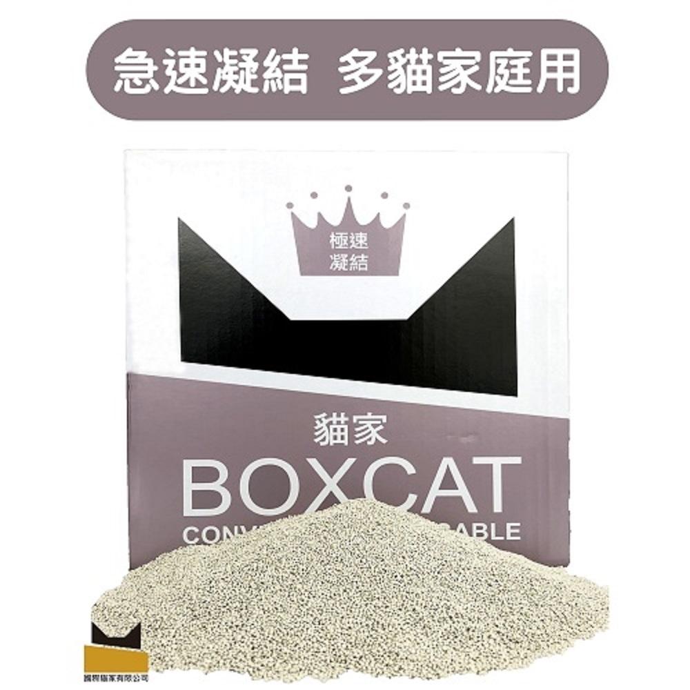 國際貓家 BOXCAT灰標 極速凝結小球砂(12L)