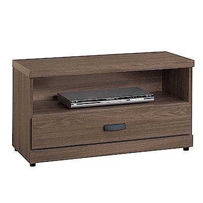 文創集 莉可時尚2.8尺木紋電視櫃/視聽櫃-83x40x48cm免組