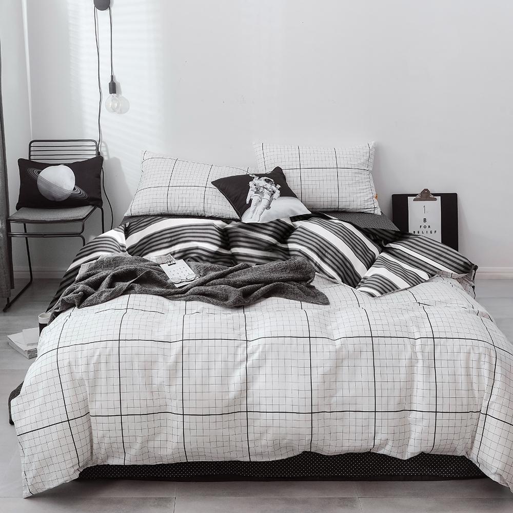 A-ONE 100%純棉-黑白H系列-純棉兩用被-空白日記