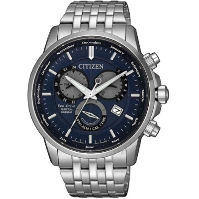 CITIZEN星辰卓越非凡光動能手錶(BL8150-86L)-藍