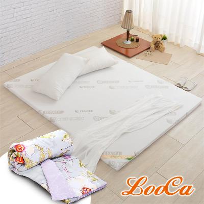 (送天絲被)LooCa 親膚天絲專利HT 5cm舒眠乳膠床墊(雙人5尺)
