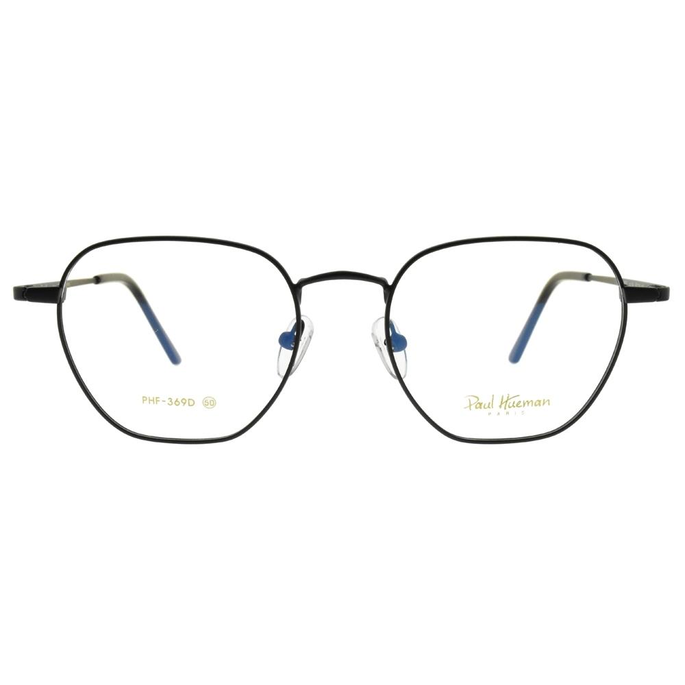 PAUL HUEMAN 光學眼鏡 韓系圓框款 /霧黑 #PHF369D C5M