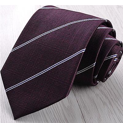 拉福   領帶8cm寬版茄利領帶拉鍊領帶