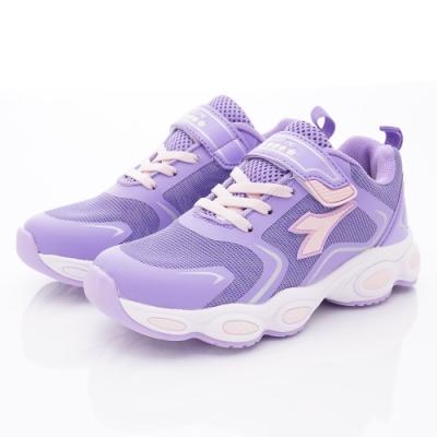 DIADORA 彈力慢跑童鞋款 SE187紫(中大童段)