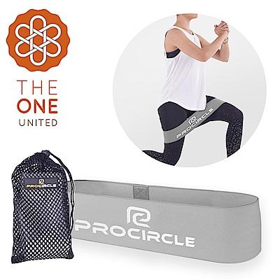【The One】瑜珈健身 寬版針織阻力帶/彈力帶(進階灰)55磅