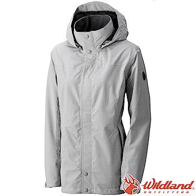 Wildland 荒野 W3911-23銀灰色 女CHAMP-TEX防水透氣外套