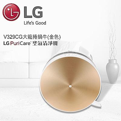 [時時樂限定] LG樂金 12-16坪 空汙顯示清淨機 PS-V329CG 金色