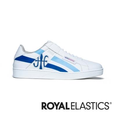ROYAL ELASTICS Icon Cross 白藍真皮運動休閒鞋 (女) 92901-055