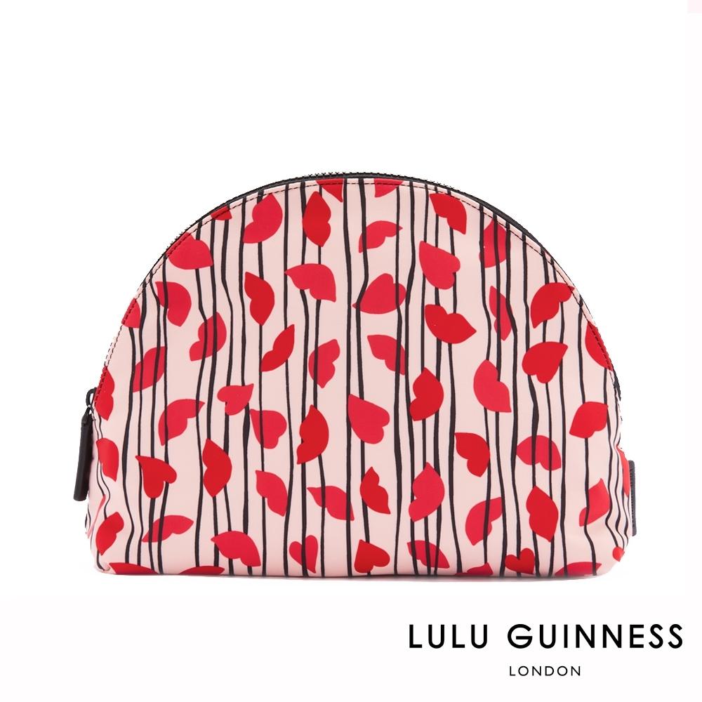 LULU GUINNESS CRESCENT 盥洗/化妝包 (LIPS & HEART TRIPE)