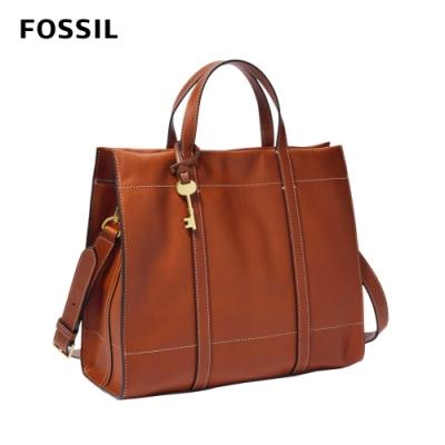 FOSSIL Carmen 真皮兩用手提包-棕色 ZB7938213