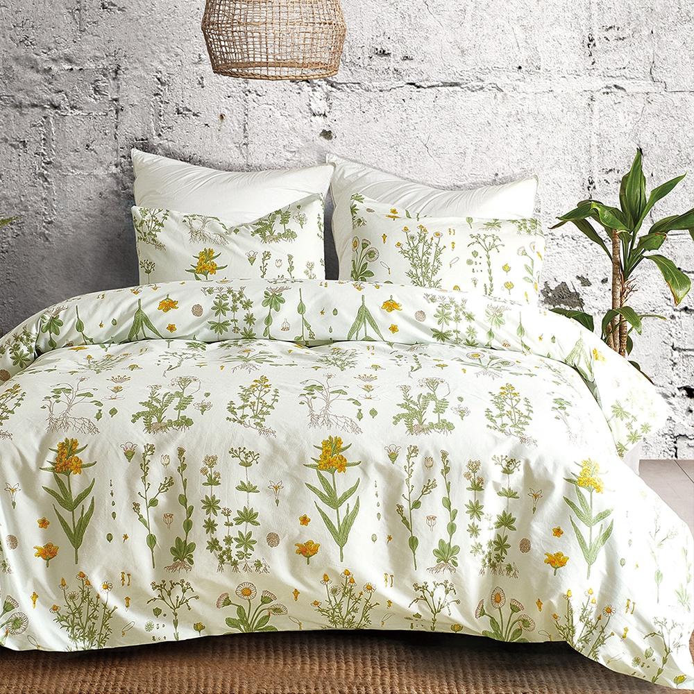 Goelia 繁縷 親膚舒柔活性印染超細纖單人床包枕套兩件組