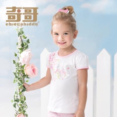 奇哥 花園比得花朵上衣-白 (4歲)